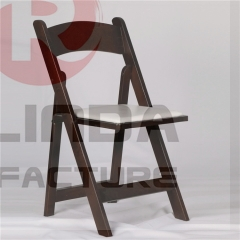 wholesale mahogany color  folding wedding chair