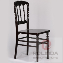 wholesale wooden Napoleon Chair black color