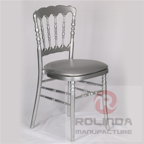 wholesale wooden Napoleon Chair silver color
