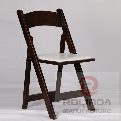 American Classic Wood Folding Chair with Padded Seat