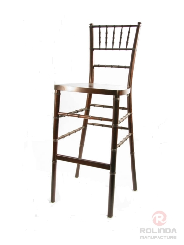 Wholesale chiavari bar stool high chair in fruit wood color